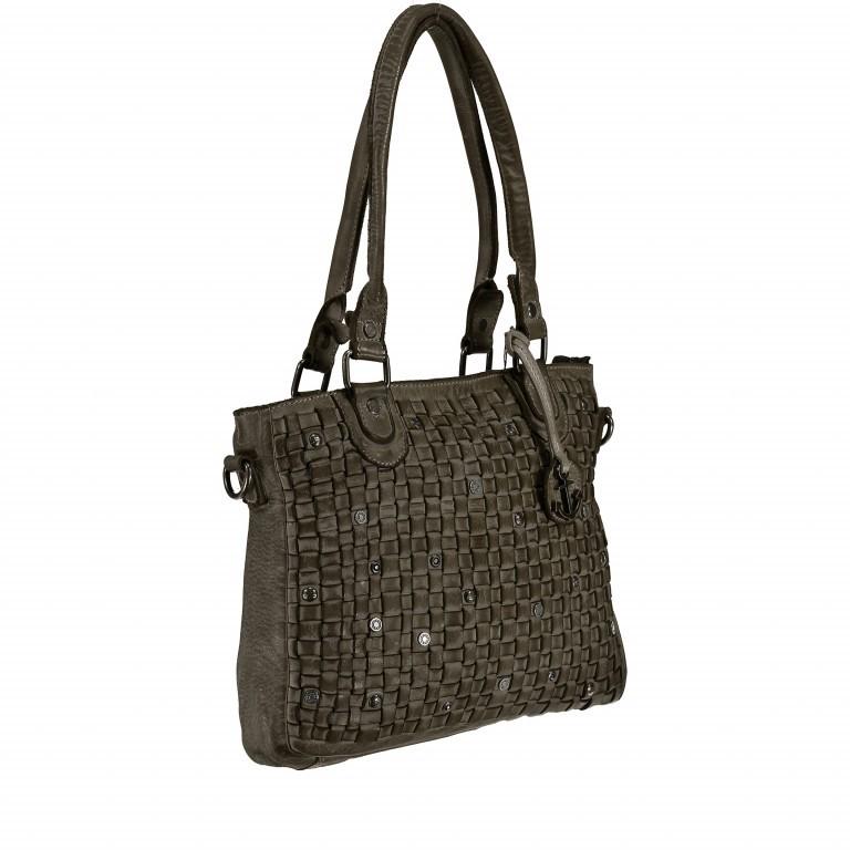 Shopper Soft-Weaving Ysabel B3.4722 Olive Green, Farbe: grün/oliv, Marke: Harbour 2nd, EAN: 4046478035232, Abmessungen in cm: 32.0x25.0x5.0, Bild 2 von 7