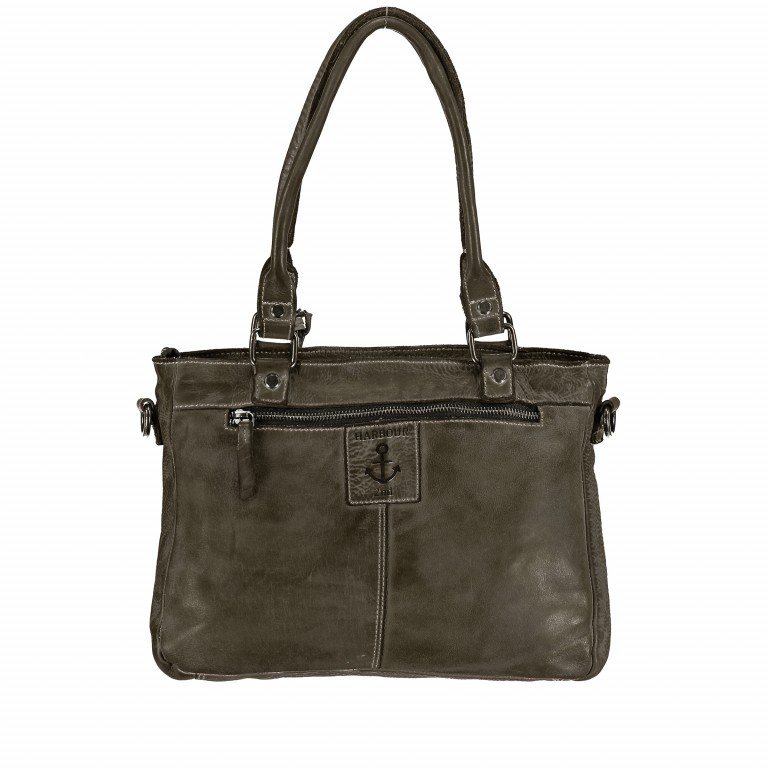 Shopper Soft-Weaving Ysabel B3.4722 Olive Green, Farbe: grün/oliv, Marke: Harbour 2nd, EAN: 4046478035232, Abmessungen in cm: 32.0x25.0x5.0, Bild 5 von 7