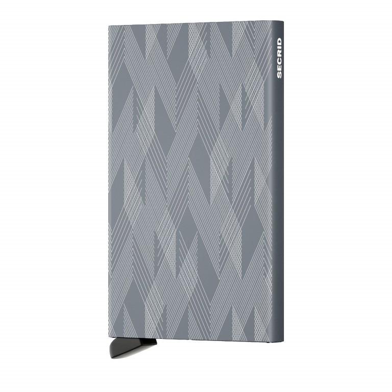Kartenetui Cardprotector Laser Zigzag Titanium, Farbe: grau, Marke: Secrid, EAN: 8718215286547, Abmessungen in cm: 6.3x10.2x0.8, Bild 1 von 4