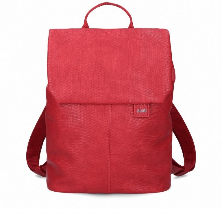 Rucksack Mademoiselle MR13 Canvas Red, Farbe: rot/weinrot, Marke: Zwei, EAN: 4250257919259, Abmessungen in cm: 34.5x37.0x12.0, Bild 1 von 6