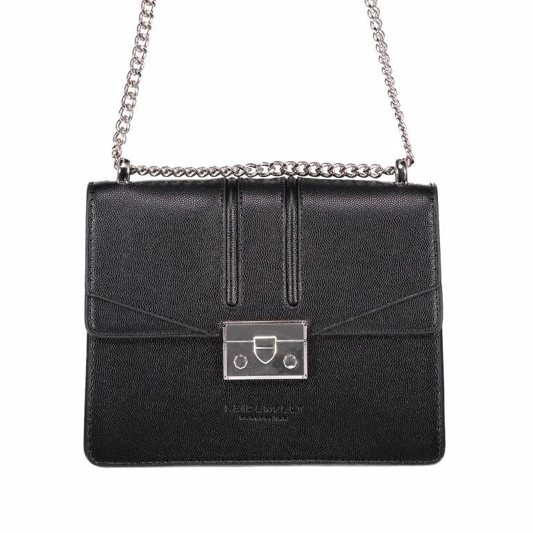 Umhängetasche Roros Black Silver, Farbe: schwarz, Marke: Seidenfelt, EAN: 4251634219283, Abmessungen in cm: 21.0x16.5x6.5, Bild 1 von 5