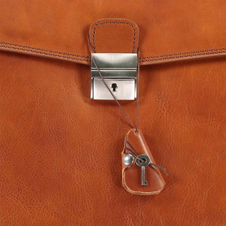 Aktentasche Braun, Farbe: braun, Marke: Hausfelder, EAN: 4065646000391, Abmessungen in cm: 41.0x30.0x15.0, Bild 8 von 8