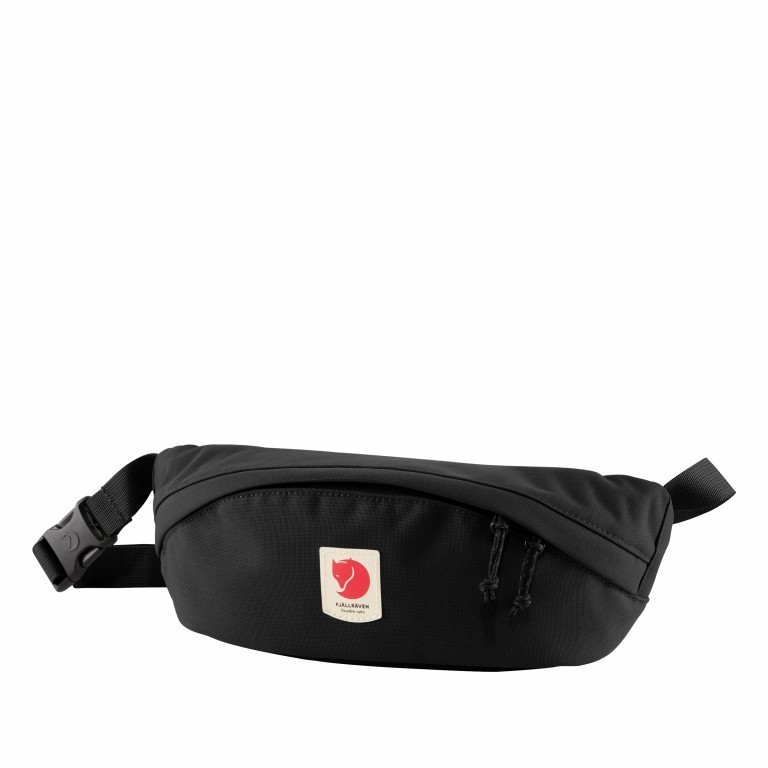 Gürteltasche Ulvö Hip Pack Medium Black, Farbe: schwarz, Marke: Fjällräven, EAN: 7323450519612, Abmessungen in cm: 28.0x12.0x10.0, Bild 1 von 6