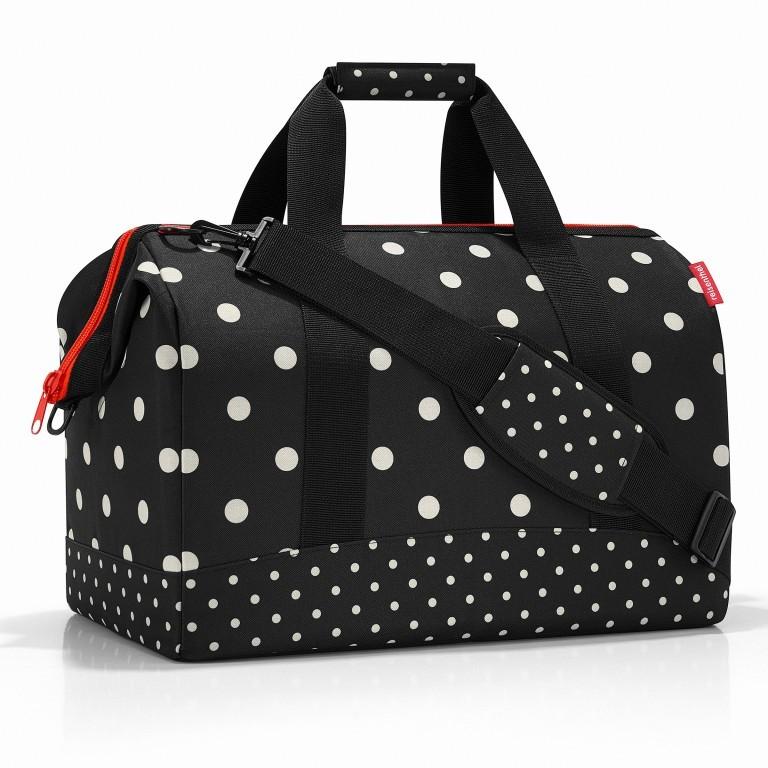 Reisetasche Allrounder L Mixed Dots, Farbe: rot/weinrot, Marke: Reisenthel, EAN: 4012013708572, Abmessungen in cm: 48.0x39.5x29.0  , Bild 1 von 2