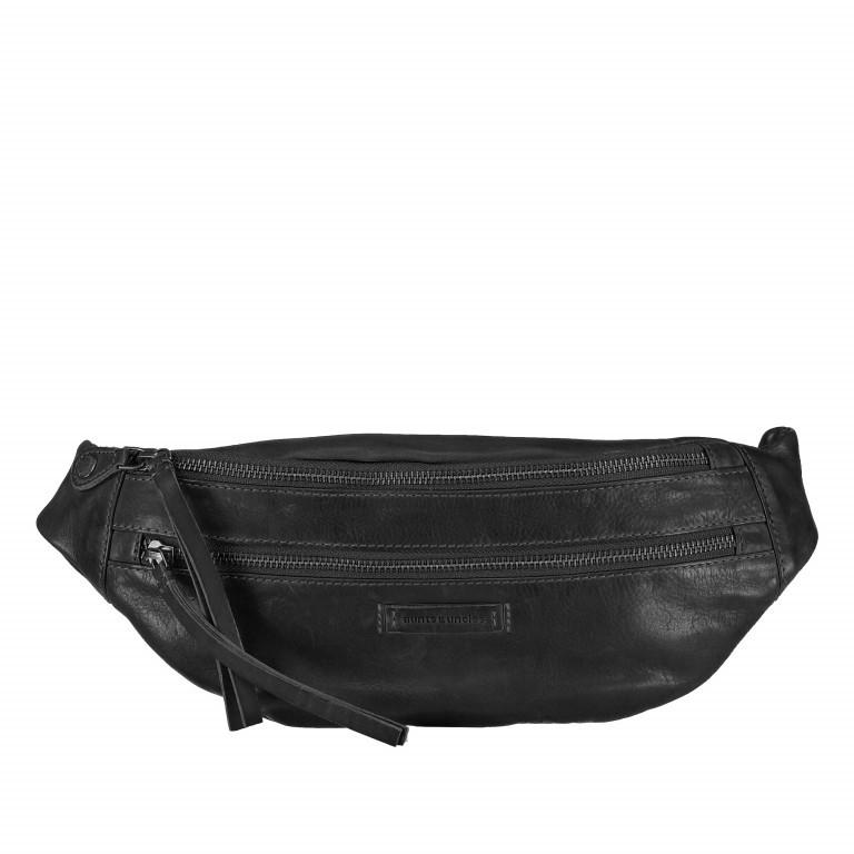Gürteltasche Jamie's Orchard Banana Jet Black, Farbe: schwarz, Marke: Aunts & Uncles, EAN: 4250394943414, Abmessungen in cm: 39.0x13.0x5.0, Bild 1 von 7