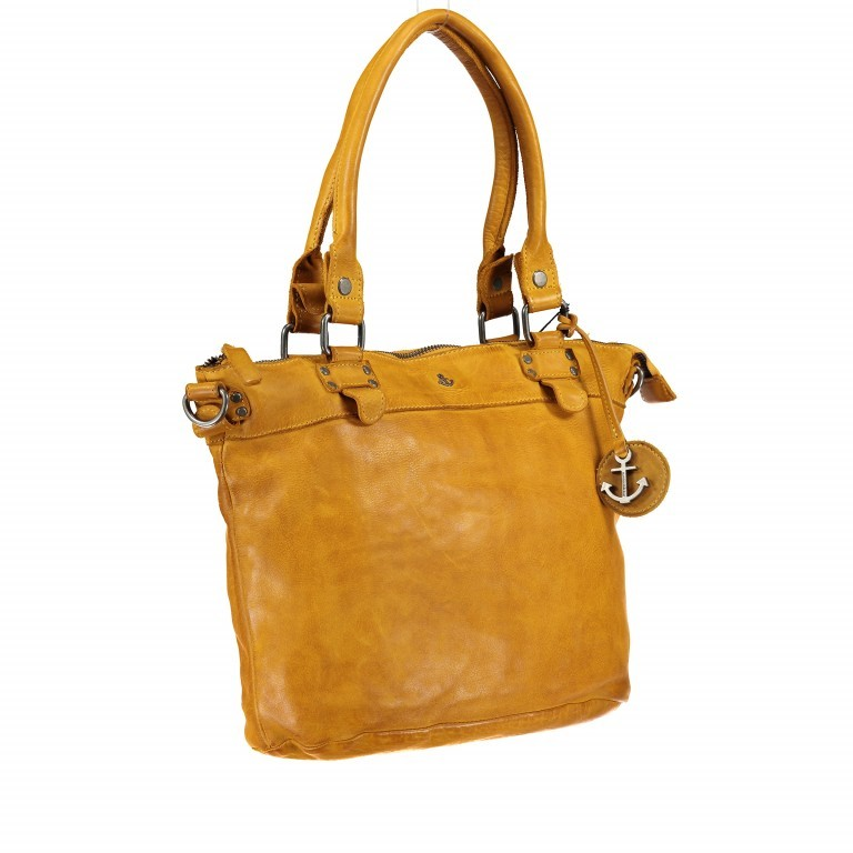 Shopper Anchor-Love Bianca B3.5938 Oriental Mustard, Farbe: gelb, Marke: Harbour 2nd, EAN: 4046478036055, Abmessungen in cm: 36.0x27.0x12.5, Bild 2 von 8