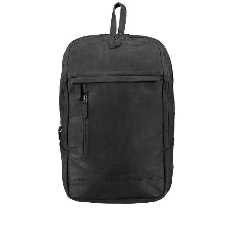 Rucksack Bristol mit Laptopfach 15 Zoll Schwarz, Farbe: schwarz, Marke: Hausfelder, EAN: 4251672709814, Abmessungen in cm: 30.0x44.0x13.0, Bild 1 von 6