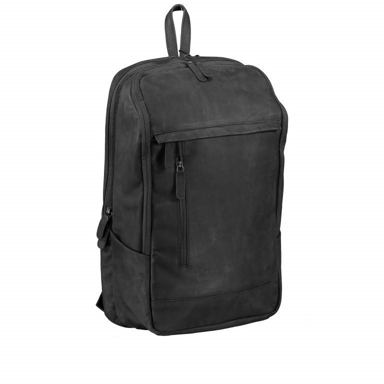 Rucksack Bristol mit Laptopfach 15 Zoll Schwarz, Farbe: schwarz, Marke: Hausfelder, EAN: 4251672709814, Abmessungen in cm: 30.0x44.0x13.0, Bild 2 von 6