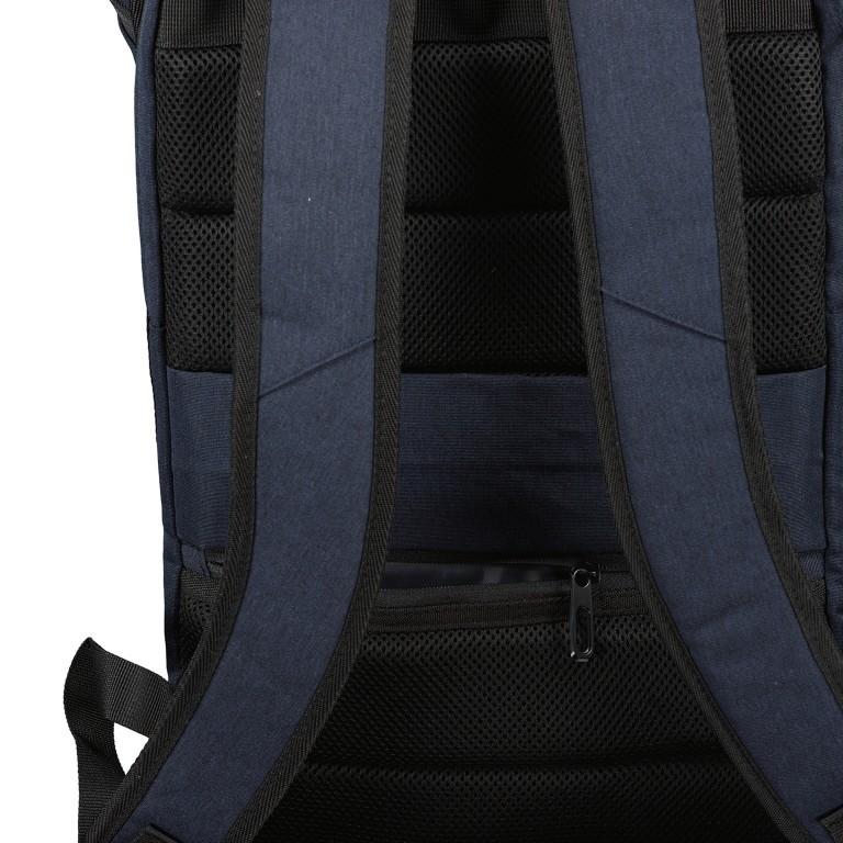 Rucksack RS46 mit Laptopfach 15 Zoll, Farbe: anthrazit, grau, blau/petrol, Marke: Franky, Abmessungen in cm: 27.0x46.0x12.0, Bild 5 von 6