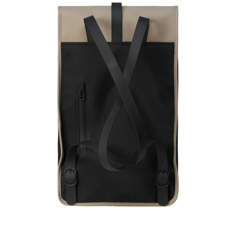 Rucksack Backpack, Farbe: schwarz, anthrazit, blau/petrol, taupe/khaki, grün/oliv, gelb, beige, weiß, Marke: Rains, Abmessungen in cm: 28.5x47.0x10.0, Bild 2 von 5