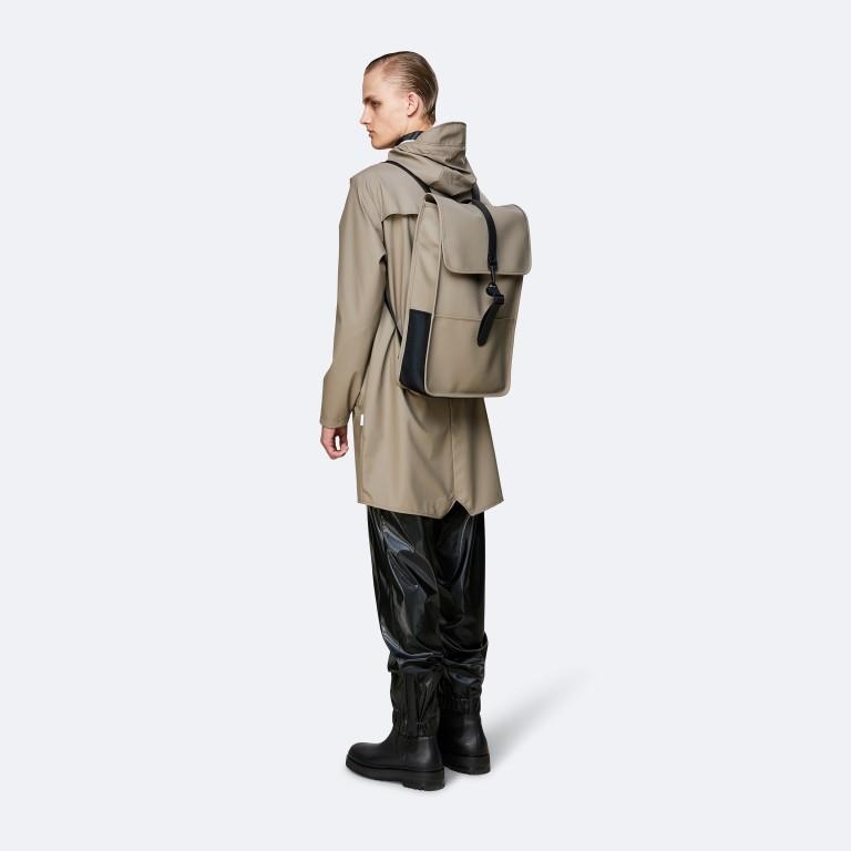 Rucksack Backpack, Farbe: schwarz, anthrazit, blau/petrol, taupe/khaki, grün/oliv, gelb, beige, weiß, Marke: Rains, Abmessungen in cm: 28.5x47.0x10.0, Bild 4 von 5