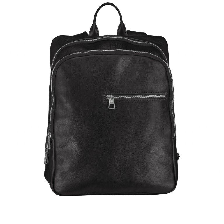 Rucksack, Farbe: schwarz, braun, cognac, Marke: Hausfelder, Abmessungen in cm: 29.0x37.0x12.0, Bild 1 von 1