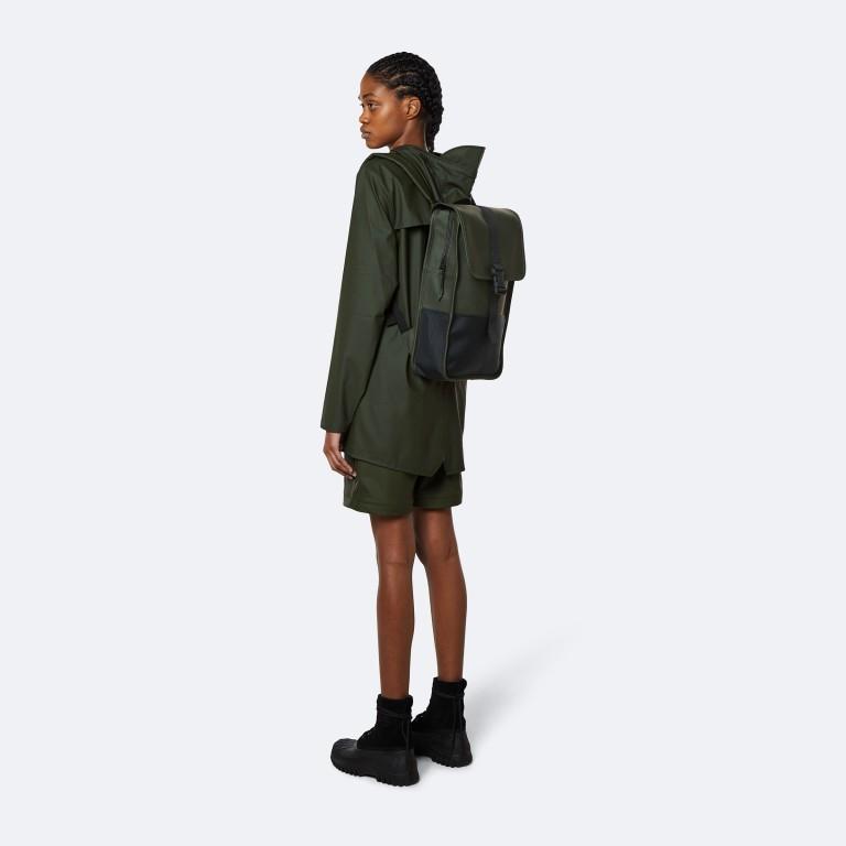 Rucksack Buckle Backpack Mini, Farbe: schwarz, grau, taupe/khaki, grün/oliv, weiß, Marke: Rains, Abmessungen in cm: 29.0x42.0x8.0, Bild 3 von 5