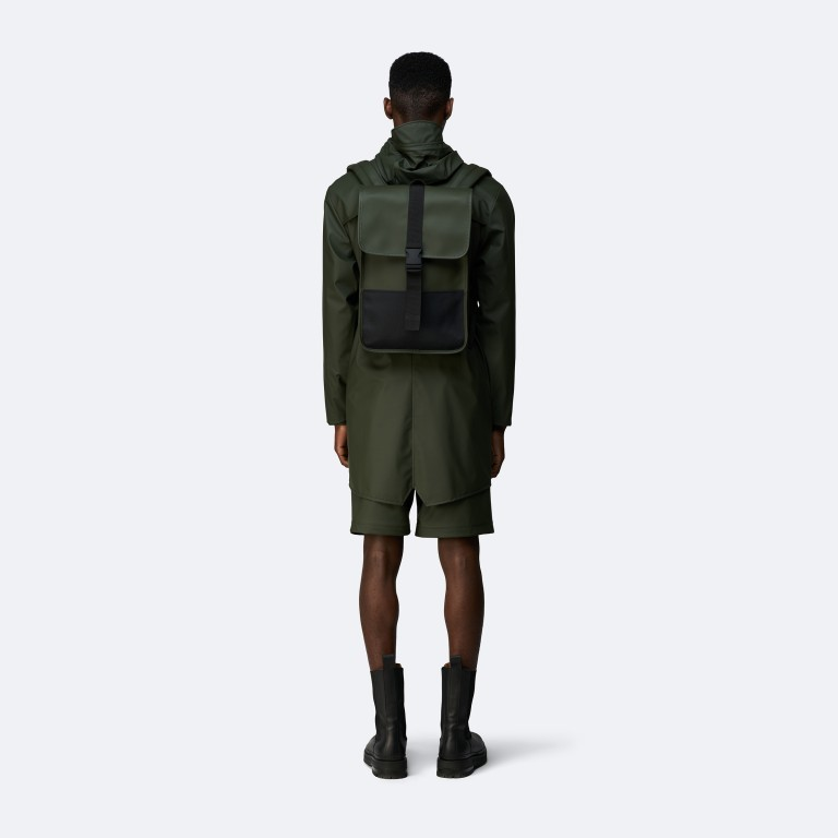Rucksack Buckle Backpack Mini, Farbe: schwarz, grau, taupe/khaki, grün/oliv, weiß, Marke: Rains, Abmessungen in cm: 29.0x42.0x8.0, Bild 4 von 5
