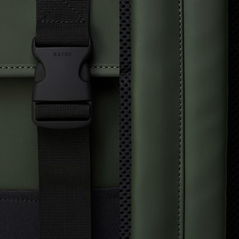 Rucksack Buckle Backpack Mini, Farbe: schwarz, grau, taupe/khaki, grün/oliv, weiß, Marke: Rains, Abmessungen in cm: 29.0x42.0x8.0, Bild 5 von 5