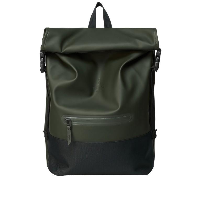Rucksack Buckle Rolltop, Farbe: schwarz, grau, taupe/khaki, grün/oliv, weiß, Marke: Rains, Abmessungen in cm: 34.0x47.0x12.0, Bild 1 von 5