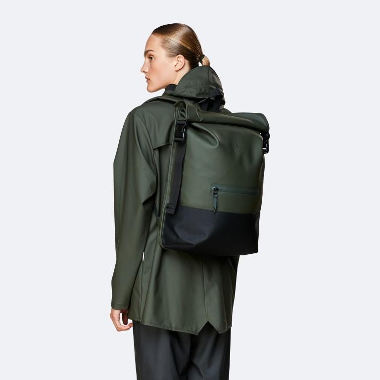 Rucksack Buckle Rolltop, Farbe: schwarz, grau, taupe/khaki, grün/oliv, weiß, Marke: Rains, Abmessungen in cm: 34.0x47.0x12.0, Bild 3 von 5