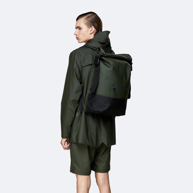 Rucksack Buckle Rolltop, Farbe: schwarz, grau, taupe/khaki, grün/oliv, weiß, Marke: Rains, Abmessungen in cm: 34.0x47.0x12.0, Bild 4 von 5