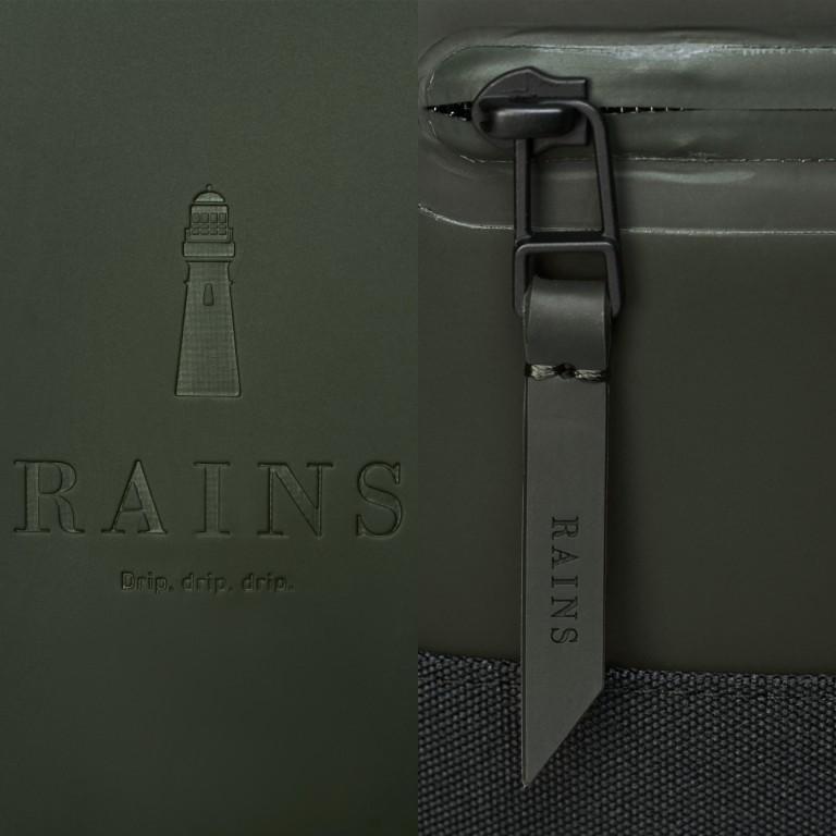 Rucksack Buckle Rolltop, Farbe: schwarz, grau, taupe/khaki, grün/oliv, weiß, Marke: Rains, Abmessungen in cm: 34.0x47.0x12.0, Bild 5 von 5