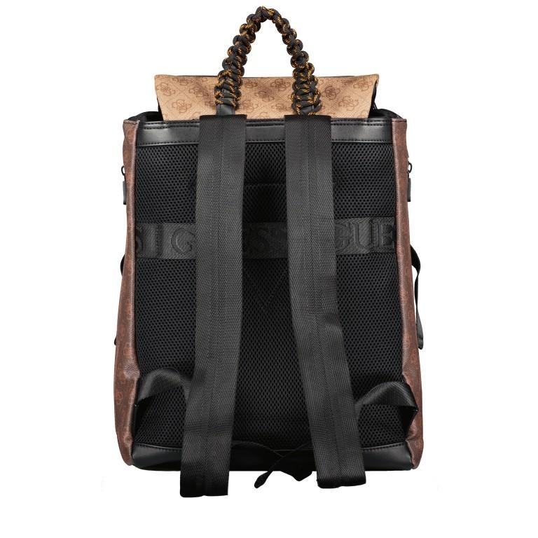 Rucksack Salameda, Farbe: schwarz, braun, Marke: Guess, Abmessungen in cm: 29.5x40.0x17.0, Bild 4 von 10