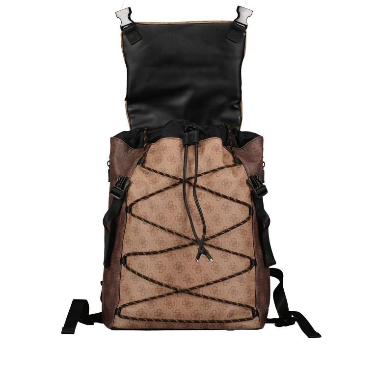 Rucksack Salameda, Farbe: schwarz, braun, Marke: Guess, Abmessungen in cm: 29.5x40.0x17.0, Bild 8 von 10