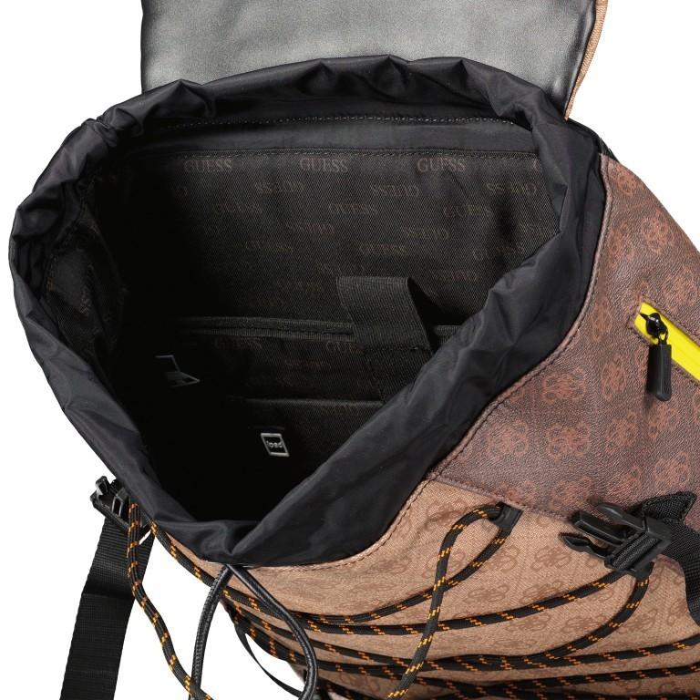 Rucksack Salameda, Farbe: schwarz, braun, Marke: Guess, Abmessungen in cm: 29.5x40.0x17.0, Bild 9 von 10