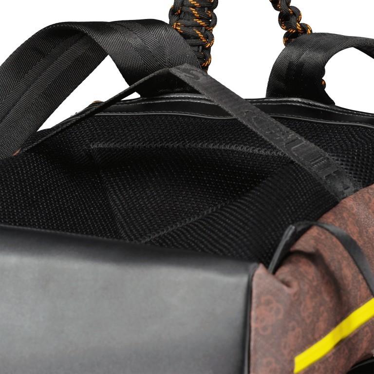 Rucksack Salameda, Farbe: schwarz, braun, Marke: Guess, Abmessungen in cm: 29.5x40.0x17.0, Bild 10 von 10