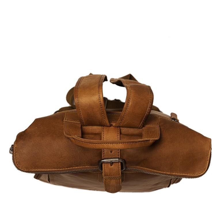 Rucksack Dali mit Rolltop, Farbe: schwarz, cognac, Marke: The Chesterfield Brand, Abmessungen in cm: 33.0x14.0x13.0, Bild 6 von 7