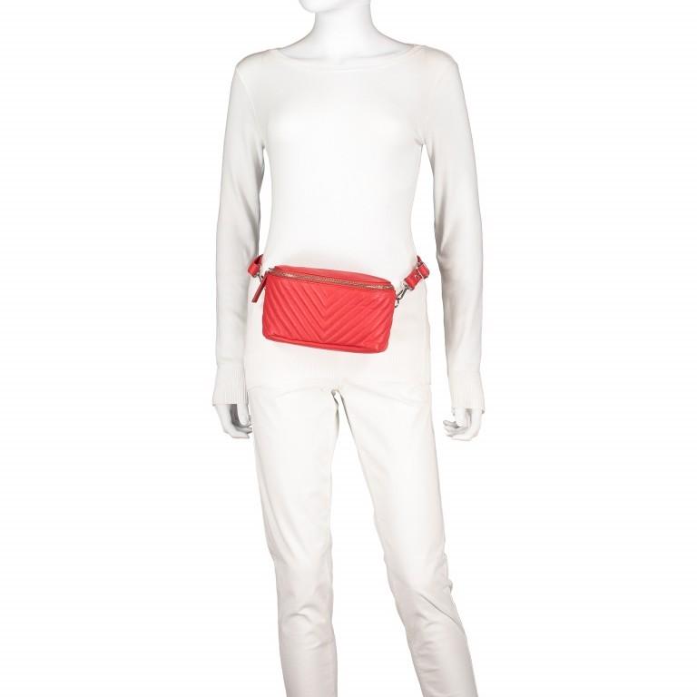 Gürteltasche Rot, Farbe: rot/weinrot, Marke: Hausfelder, EAN: 4251672707926, Abmessungen in cm: 20.0x12.0x5.0, Bild 5 von 8