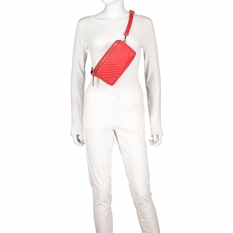Gürteltasche Rot, Farbe: rot/weinrot, Marke: Hausfelder, EAN: 4251672707926, Abmessungen in cm: 20.0x12.0x5.0, Bild 6 von 8