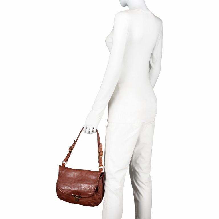 Umhängetasche Clivia 2570-X0001 Leder Cognac, Farbe: cognac, Marke: Campomaggi, EAN: 8054302089708, Abmessungen in cm: 28.0x20.0x8.0, Bild 7 von 9