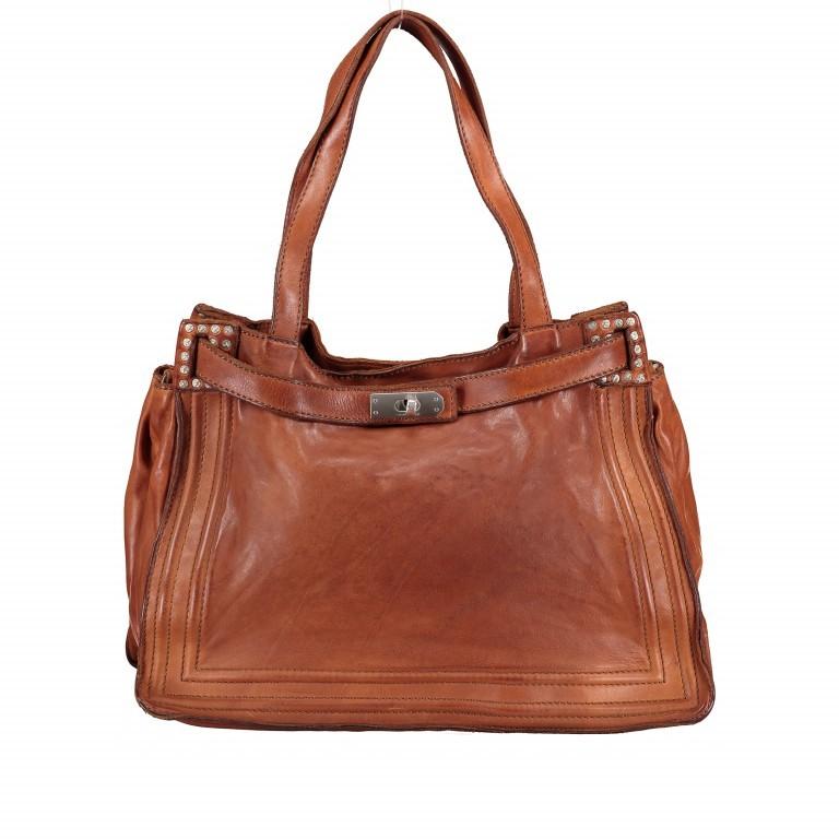 Handtasche Urania 1711-X0001 Leder Cognac, Farbe: cognac, Marke: Campomaggi, EAN: 8054302418454, Abmessungen in cm: 35.0x24.0x13.0, Bild 1 von 8