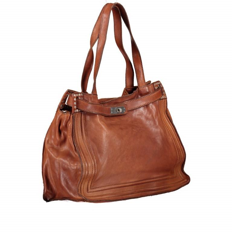 Handtasche Urania 1711-X0001 Leder Cognac, Farbe: cognac, Marke: Campomaggi, EAN: 8054302418454, Abmessungen in cm: 35.0x24.0x13.0, Bild 2 von 8