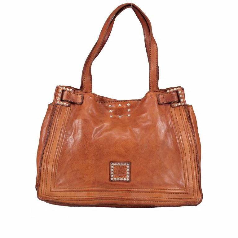 Handtasche Urania 1711-X0001 Leder Cognac, Farbe: cognac, Marke: Campomaggi, EAN: 8054302418454, Abmessungen in cm: 35.0x24.0x13.0, Bild 3 von 8