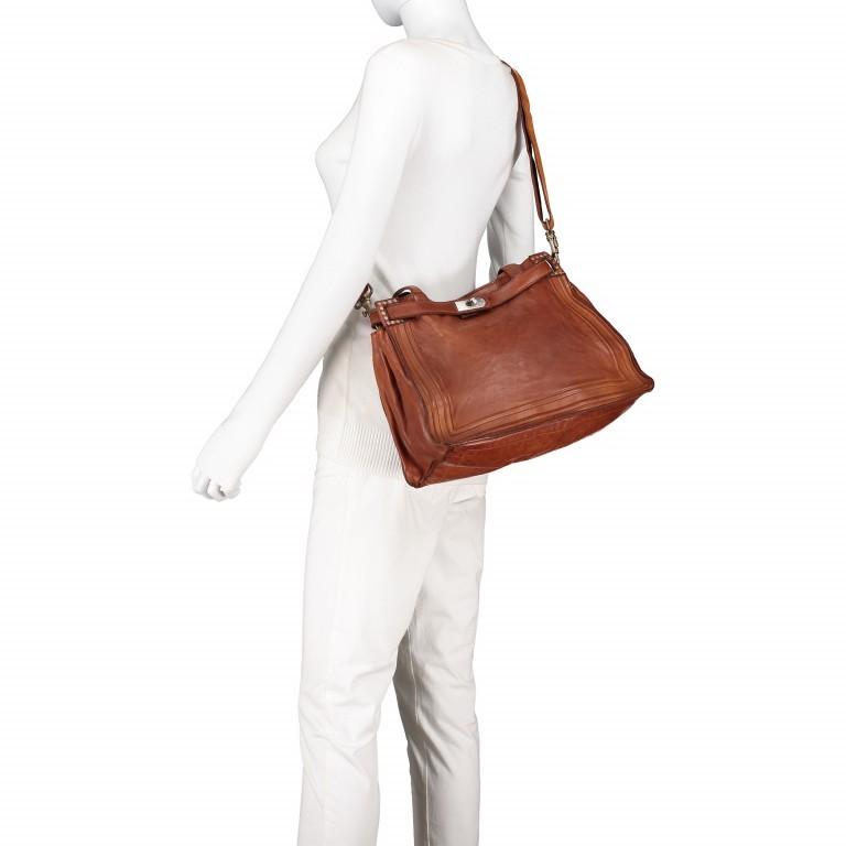 Handtasche Urania 1711-X0001 Leder Cognac, Farbe: cognac, Marke: Campomaggi, EAN: 8054302418454, Abmessungen in cm: 35.0x24.0x13.0, Bild 4 von 8