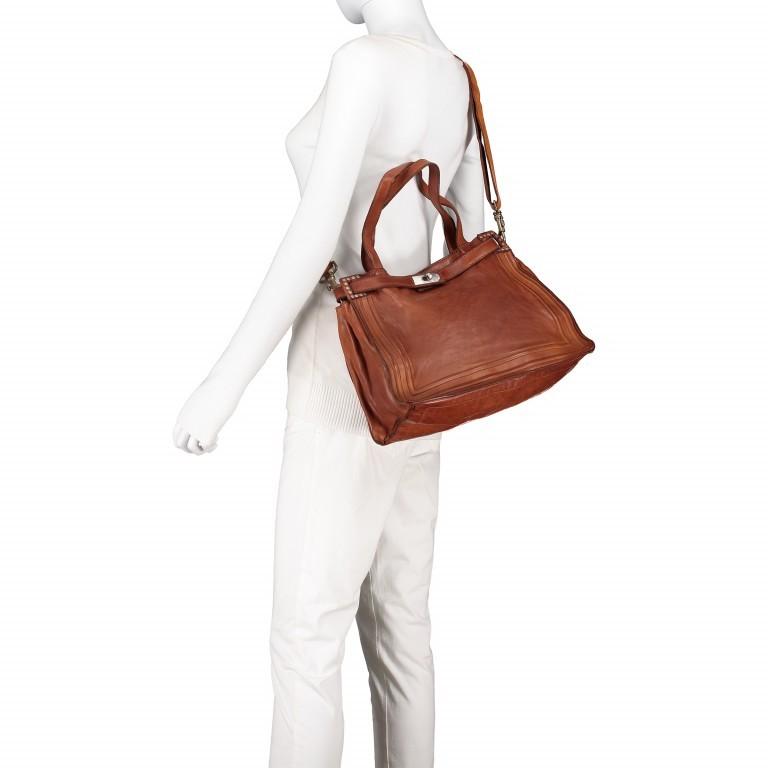 Handtasche Urania 1711-X0001 Leder Cognac, Farbe: cognac, Marke: Campomaggi, EAN: 8054302418454, Abmessungen in cm: 35.0x24.0x13.0, Bild 5 von 8