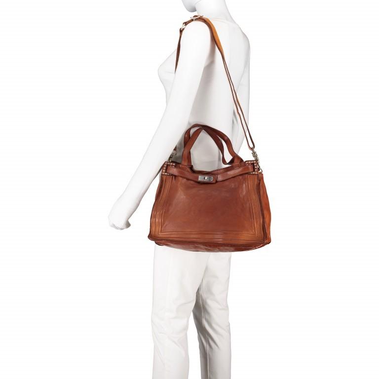 Handtasche Urania 1711-X0001 Leder Cognac, Farbe: cognac, Marke: Campomaggi, EAN: 8054302418454, Abmessungen in cm: 35.0x24.0x13.0, Bild 6 von 8