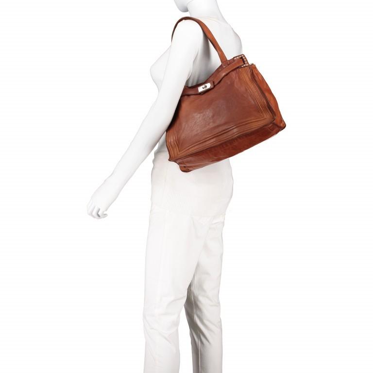 Handtasche Urania 1711-X0001 Leder Cognac, Farbe: cognac, Marke: Campomaggi, EAN: 8054302418454, Abmessungen in cm: 35.0x24.0x13.0, Bild 7 von 8