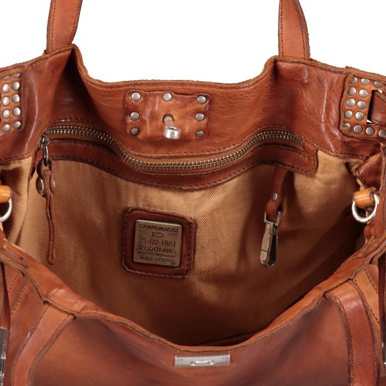 Handtasche Urania 1711-X0001 Leder Cognac, Farbe: cognac, Marke: Campomaggi, EAN: 8054302418454, Abmessungen in cm: 35.0x24.0x13.0, Bild 8 von 8