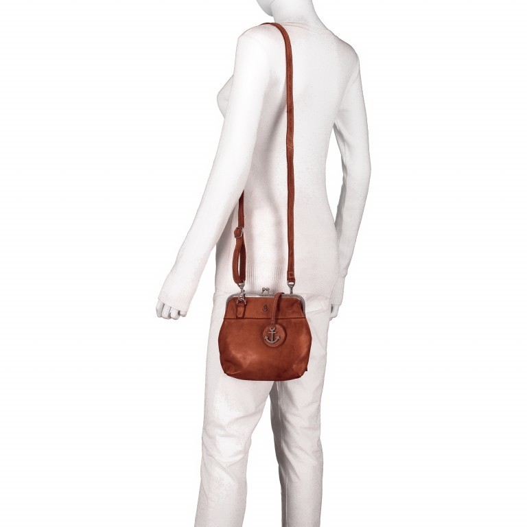 Tasche Anchor-Love Rosalie B3.7840 Charming Cognac, Farbe: cognac, Marke: Harbour 2nd, EAN: 4046478037786, Abmessungen in cm: 22.0x20.0x3.0, Bild 5 von 7
