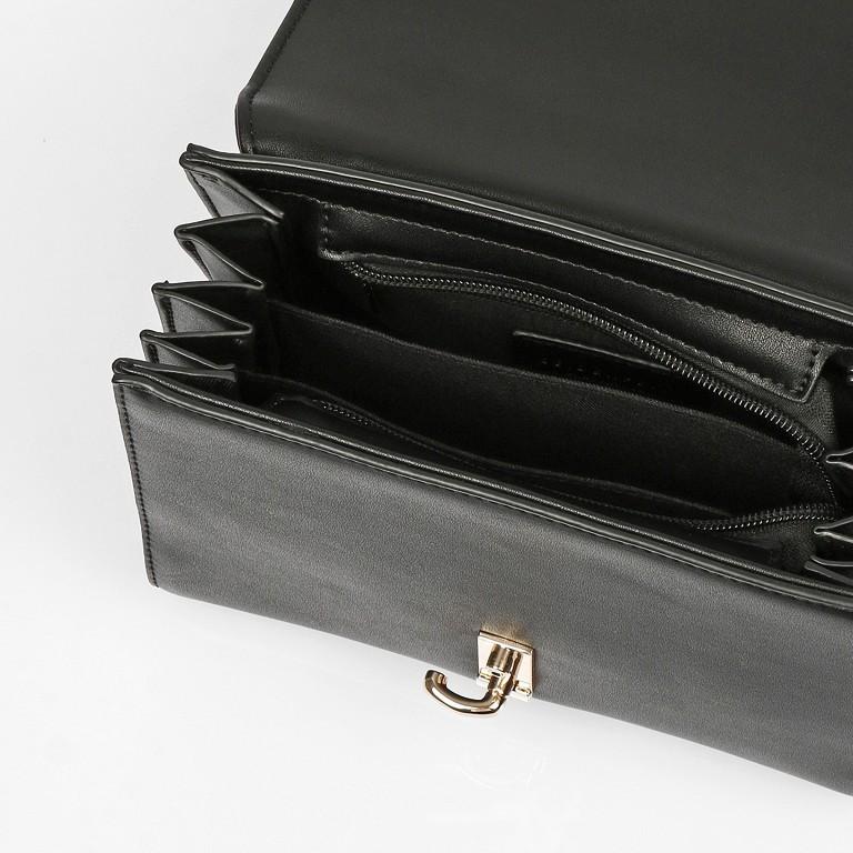 Umhängetasche Kisa Black Gold, Farbe: schwarz, Marke: Seidenfelt, EAN: 4251634256271, Abmessungen in cm: 20.5x15.5x9.0, Bild 8 von 10