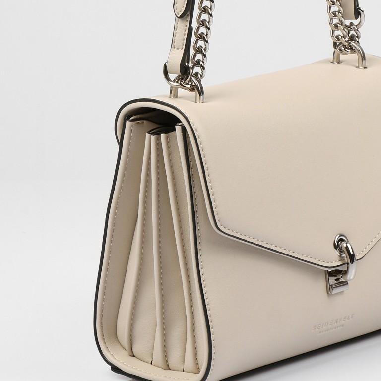 Umhängetasche Kisa Beige Silver, Farbe: beige, Marke: Seidenfelt, EAN: 4251634256288, Abmessungen in cm: 20.5x15.5x9.0, Bild 11 von 12