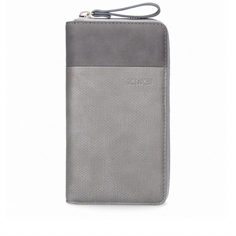 Geldbörse Eva Wallet EV2 Canvas Grey, Farbe: grau, Marke: Zwei, EAN: 4250257919716, Abmessungen in cm: 19.0x11.0x3.0, Bild 1 von 6
