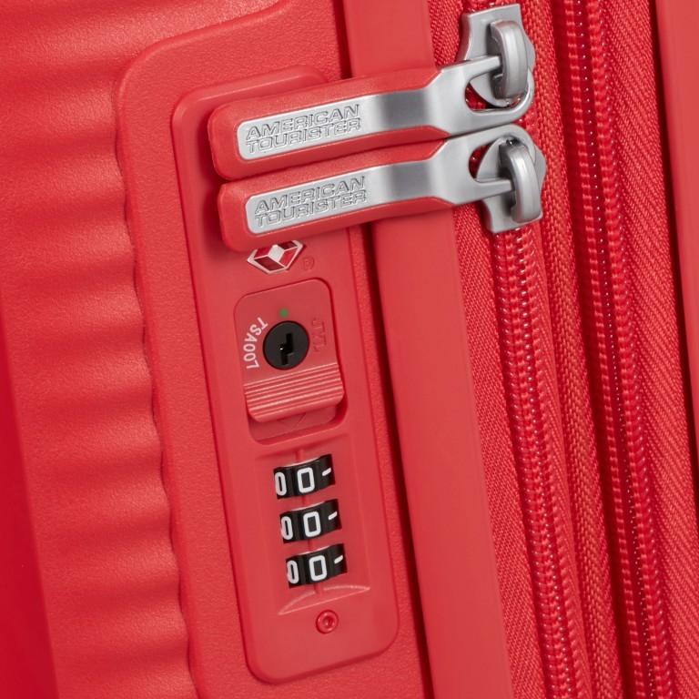 Trolley Soundbox 4-Rollen 67 cm Coral Red, Farbe: rot/weinrot, Marke: American Tourister, EAN: 5414847961410, Abmessungen in cm: 46.5x67.0x29.0, Bild 4 von 8