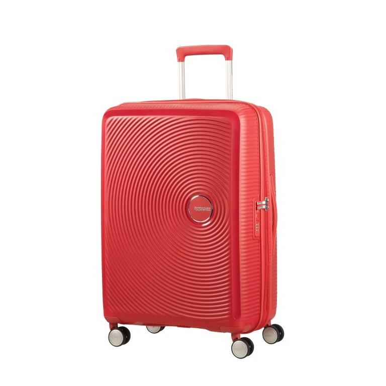 Trolley Soundbox 4-Rollen 67 cm Coral Red, Farbe: rot/weinrot, Marke: American Tourister, EAN: 5414847961410, Abmessungen in cm: 46.5x67.0x29.0, Bild 1 von 8