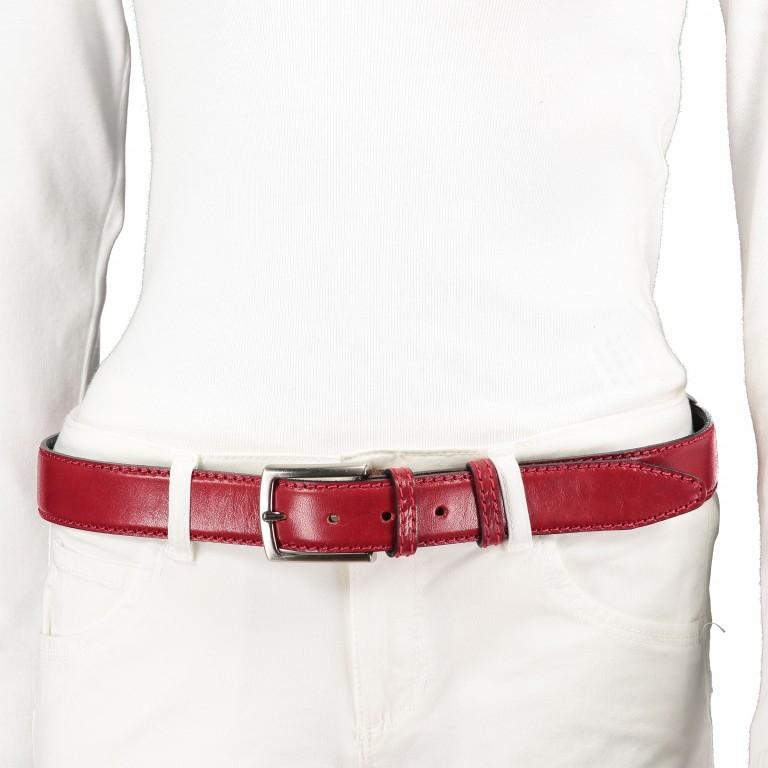 Gürtel Toscana One Size Rot, Farbe: rot/weinrot, Marke: Hausfelder, EAN: 4065646000889, Bild 3 von 3