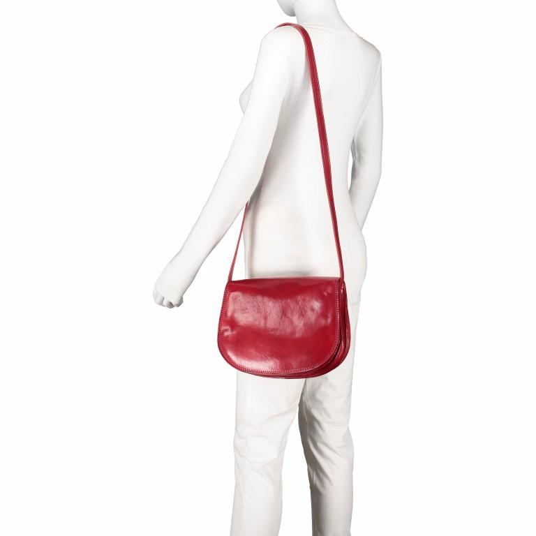 Satteltasche Toscana Größe L Rot, Farbe: rot/weinrot, Marke: Hausfelder, EAN: 4065646000223, Abmessungen in cm: 27.0x23.0x13.0, Bild 4 von 6