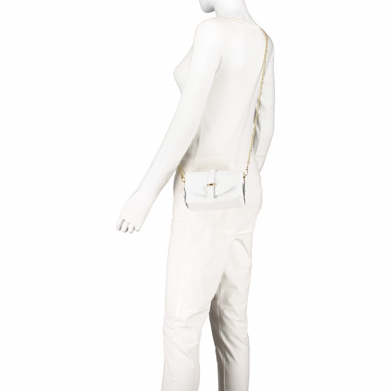 Umhängetasche Ruga Weiß, Farbe: weiß, Marke: Hausfelder, EAN: 4065646001336, Abmessungen in cm: 15.0x11.0x8.0, Bild 4 von 7