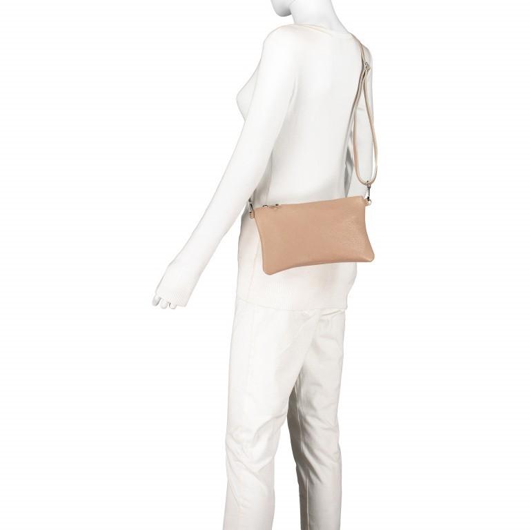 Umhängetasche / Clutch Dollaro Hellgrau, Farbe: grau, Marke: Hausfelder, EAN: 4065646001459, Abmessungen in cm: 24.5x15.0x1.0, Bild 4 von 7