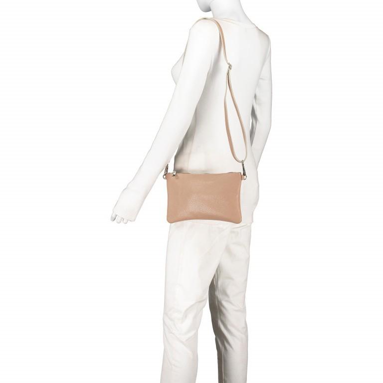 Umhängetasche / Clutch Dollaro Hellgrau, Farbe: grau, Marke: Hausfelder, EAN: 4065646001459, Abmessungen in cm: 24.5x15.0x1.0, Bild 5 von 7